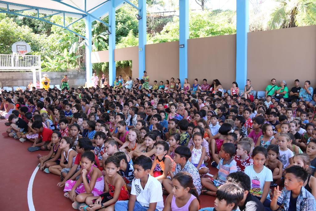 Pour cet événement, les enfants de l'école Saint-Hilaire étaient présents.