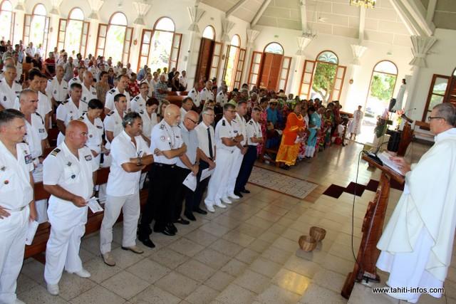 La traditionnelle messe a précédé un discours sans angélisme où le patron des gendarmes en Polynésie française a livré sa vision des dangers qui menacent la société polynésienne.