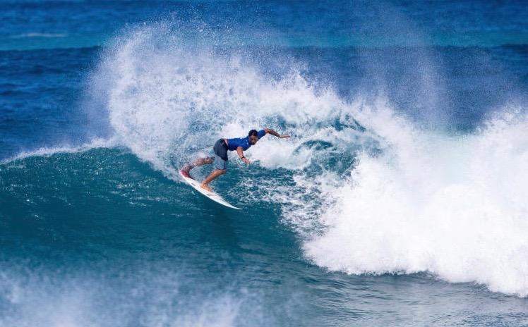 Un début de saison encourageant pour le surfeur de la côte est de Tahiti © WSL Tony Heff