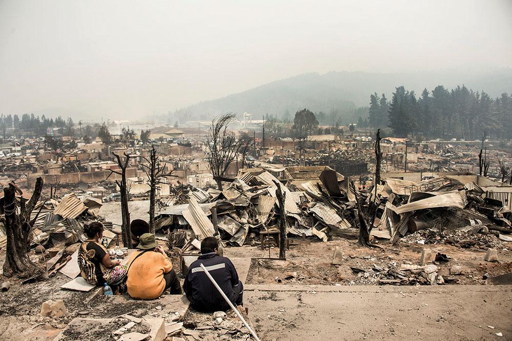 Chili : une partie des feux de forêts maîtrisés