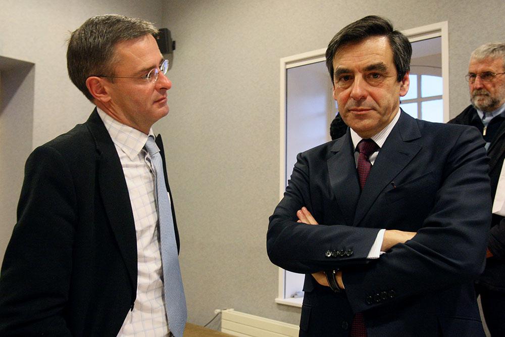 Marc Joulaud, ex-employeur de Penelope Fillon, et François Fillon.