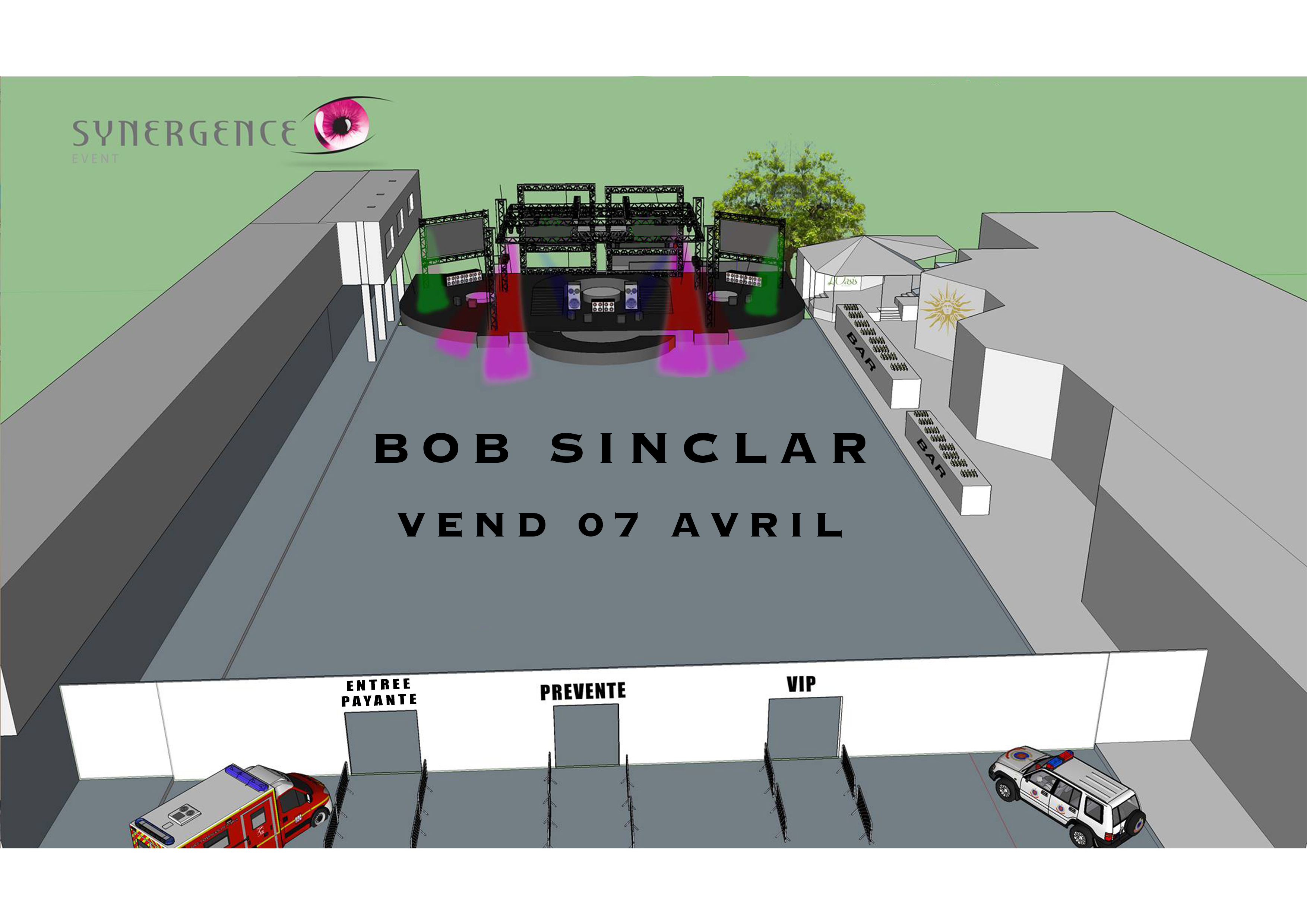 Pour l'événement, la rue Jeanne-d'Arc sera bloquée et une scène géante sera installée pour accueillir Bob Sinclar et des DJs locaux.