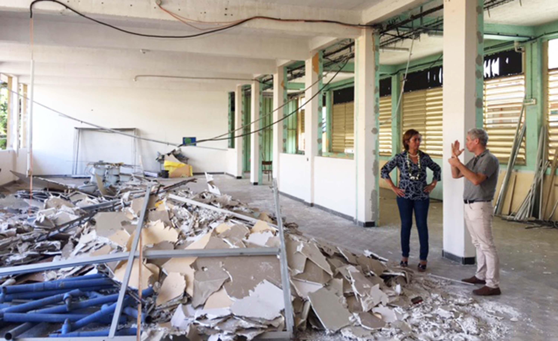 Le premier étage du lycée Paul-Gauguin en rénovation