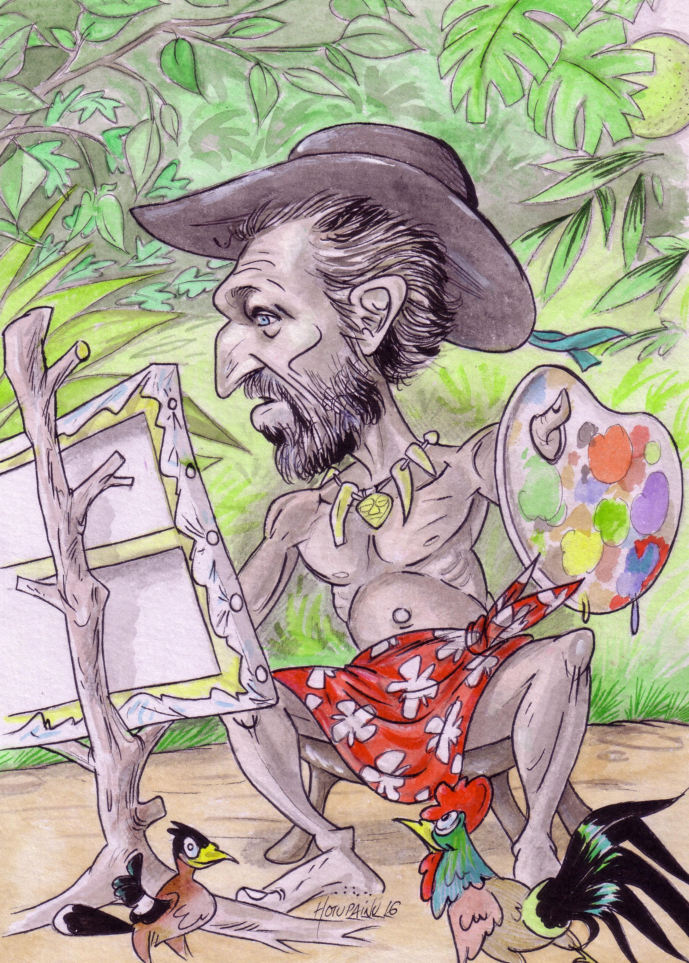 Quand le passage à Tahiti de Vincent Cassel, dans le rôle de Gauguin, inspire le dessinateur…