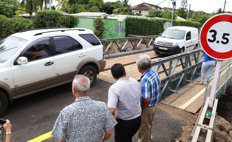Matatia : mise en service d'un pont provisoire