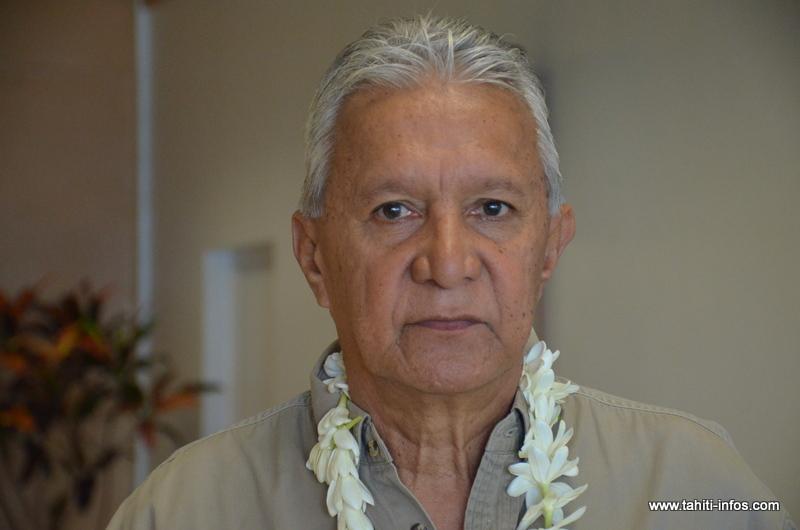 Roland Oldham, président de l'association Moruroa e tatou.