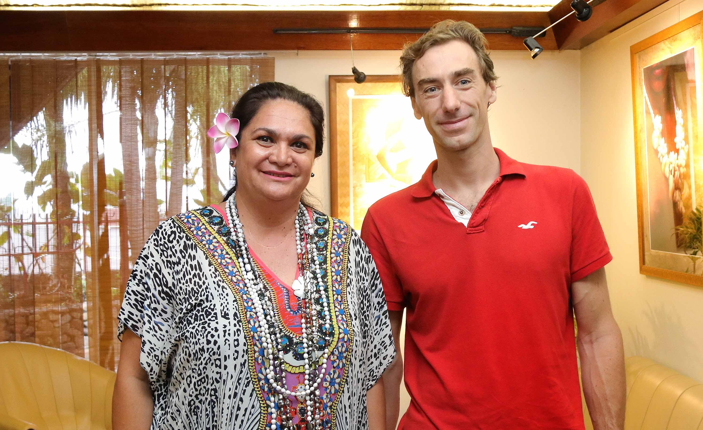 Nicole Bouteau, a reçu, lundi après-midi, le directeur de l'Institut de la statistique de Polynésie française (ISPF), Fabien Breuilh.