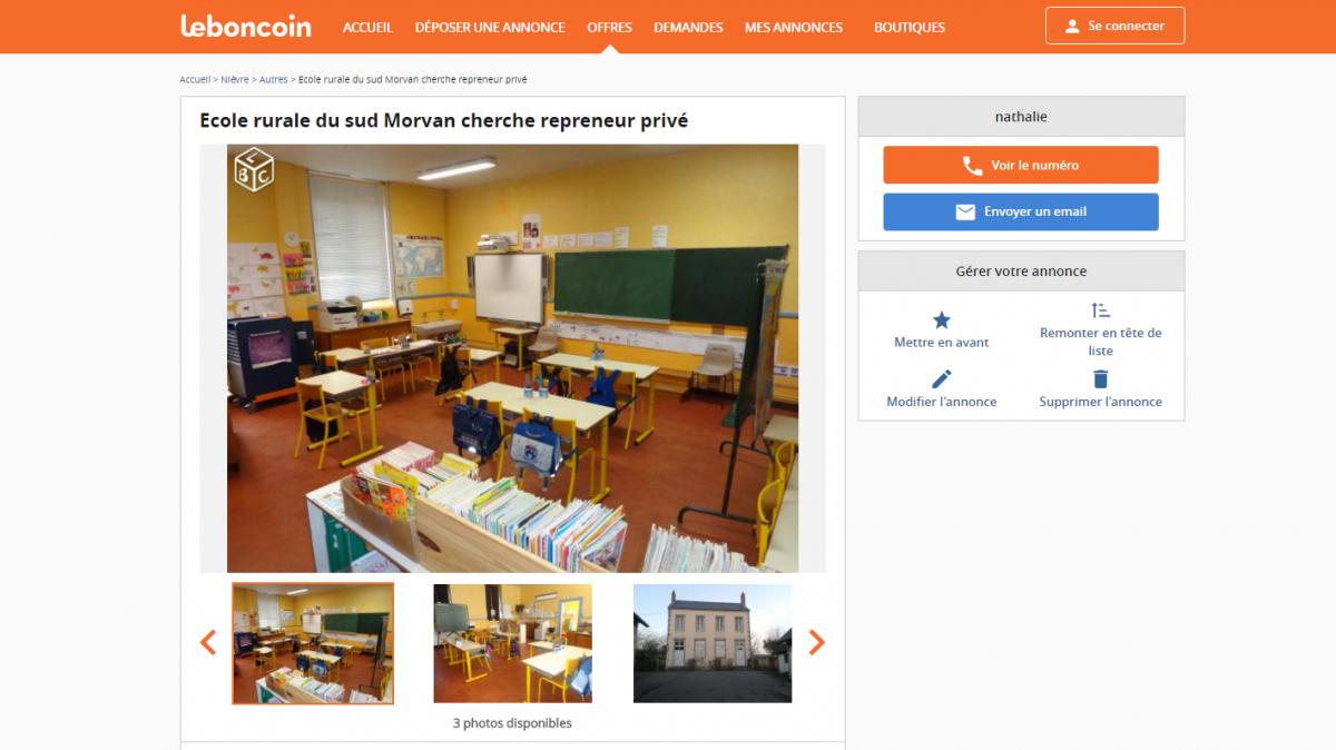Nièvre: des parents mettent l'école en vente sur Leboncoin