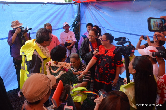 L'occasion pour elle, de féliciter les personnes qui ont apporté leur aide pour l'évacuation des familles sinistrées.