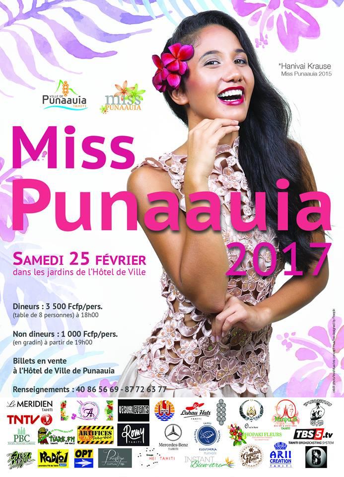 Miss Punaauia 2017 : qui succédera à Hanivai Krause ?
