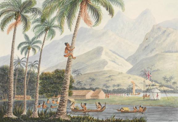 The Observatory, Point Venus, Otahytey - L'observatoire de la pointe Vénus en 1792