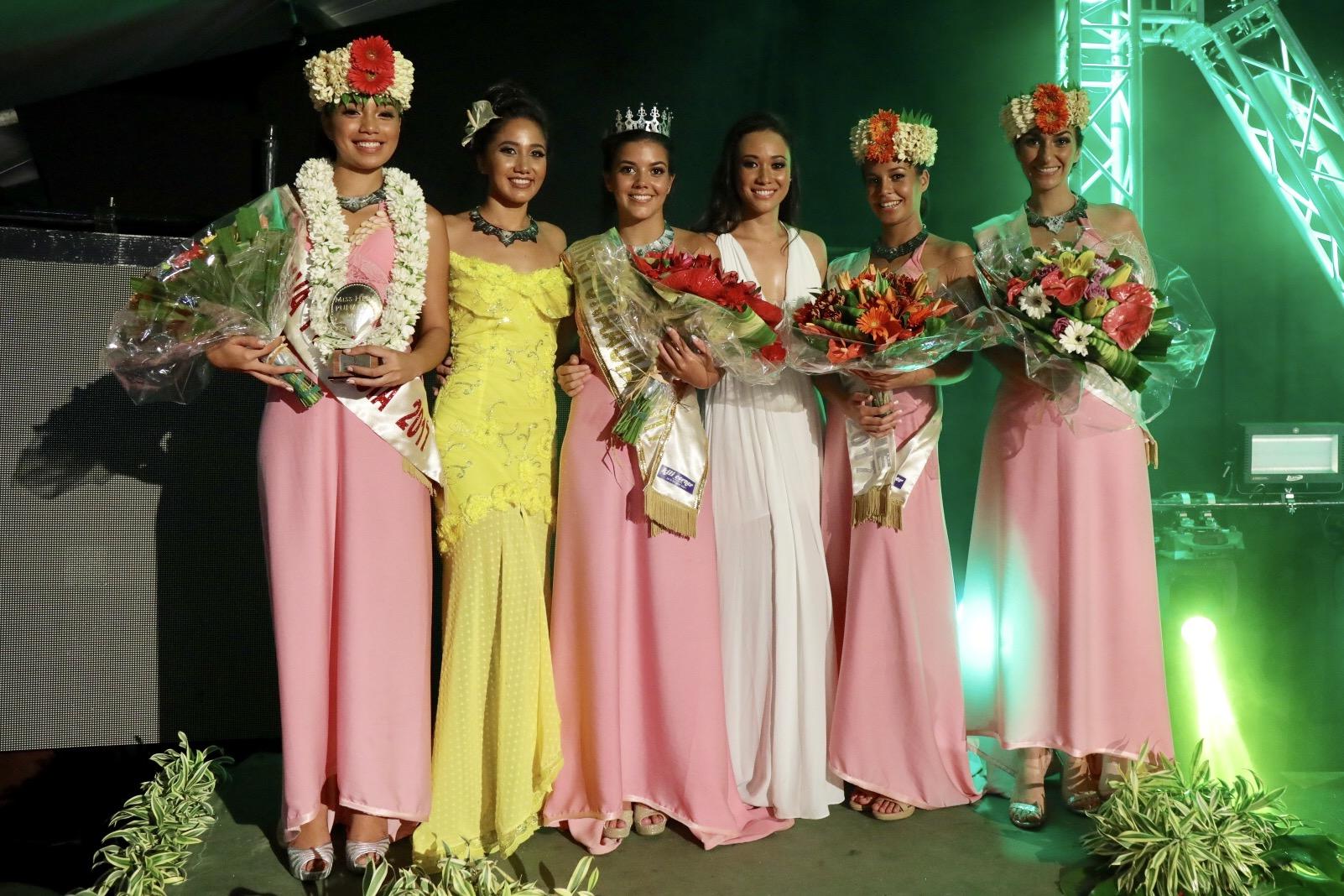 Mareva Domby a été sacrée Miss Punaauia 2017