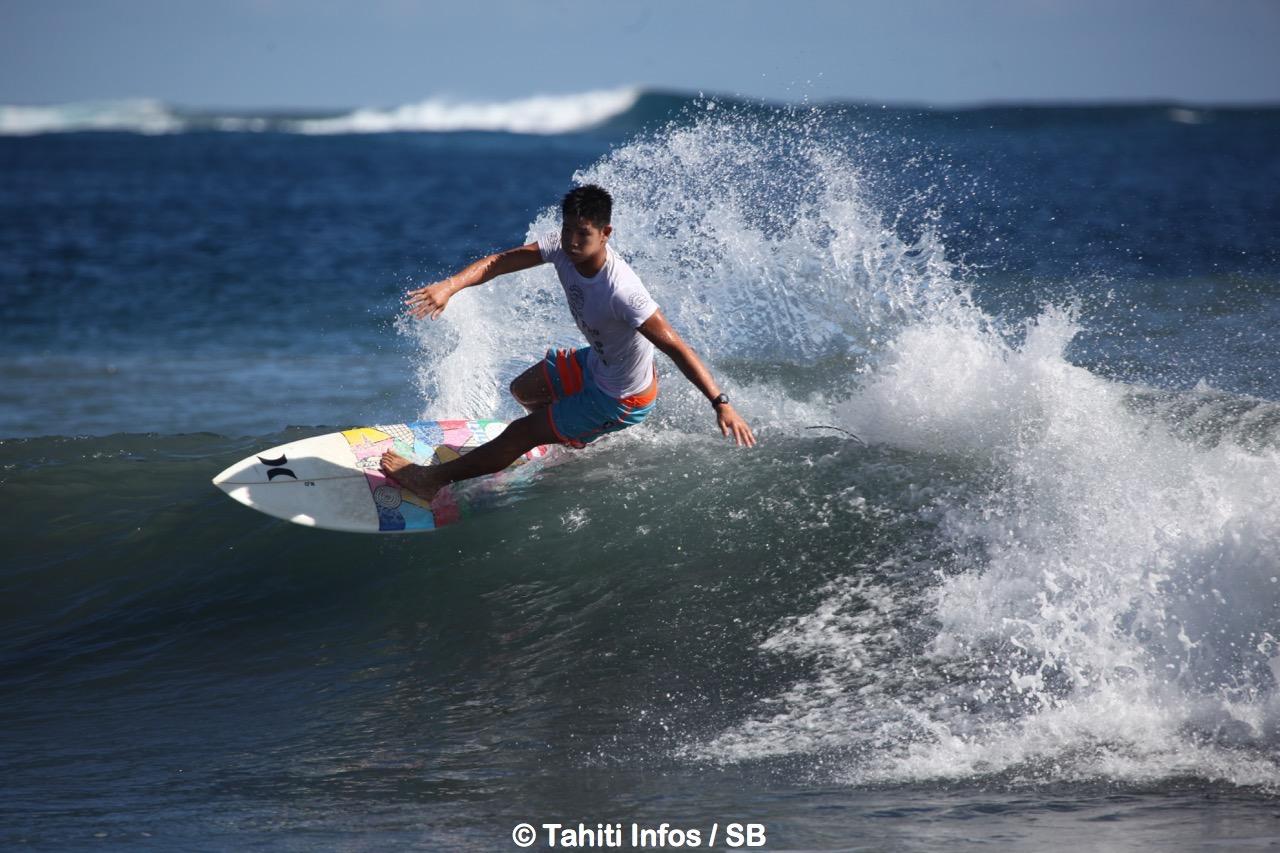 Keoni Yan en action à Taharu'u