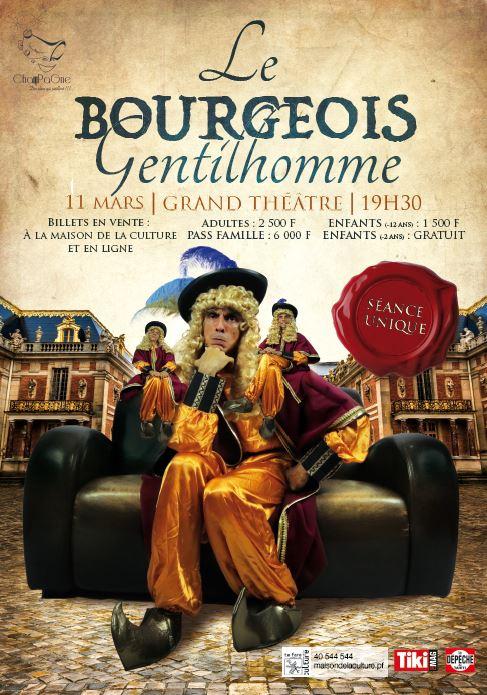 """Théâtre : """"Le Bourgeois gentilhomme"""" de Molière à la sauce """"ChanPaGne"""""""