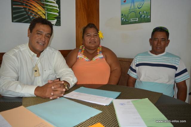 Quelques élus frondeurs. De gauche à droite, Bruno Faatoa, Ana Flores et Teremihi Tohitika.