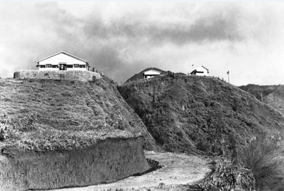 Le centre de repos de Fare rau ape (belvédère) dans les années 60