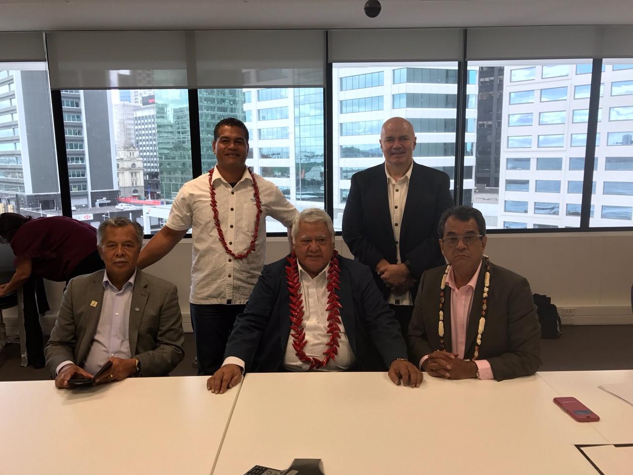 Internet : Edouard Fritch en Nouvelle Zélande dans le cadre du projet Manatua