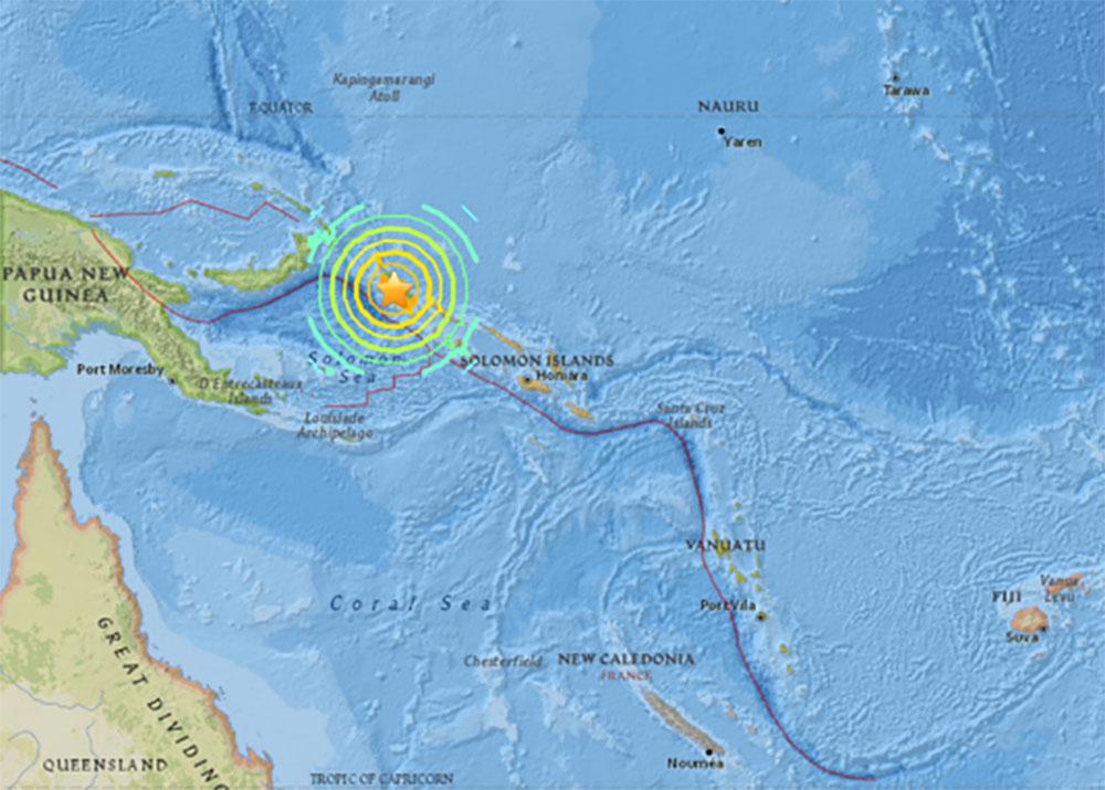 Séisme près de la Papouasie-Nouvelle-Guinée