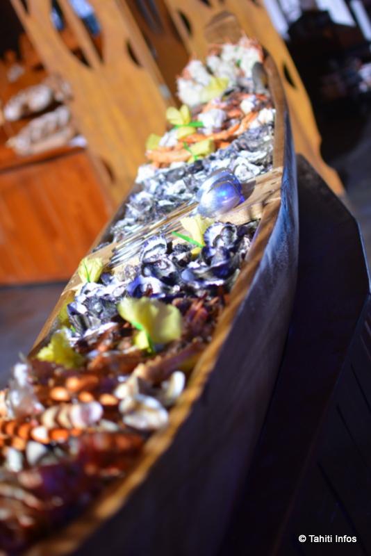 Les convives avaient aussi le choix entre un large assortiment de fruits de mer