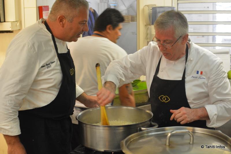 Guillaume Burlion, chef du restaurant K, et son maître Patrick Lenôtre