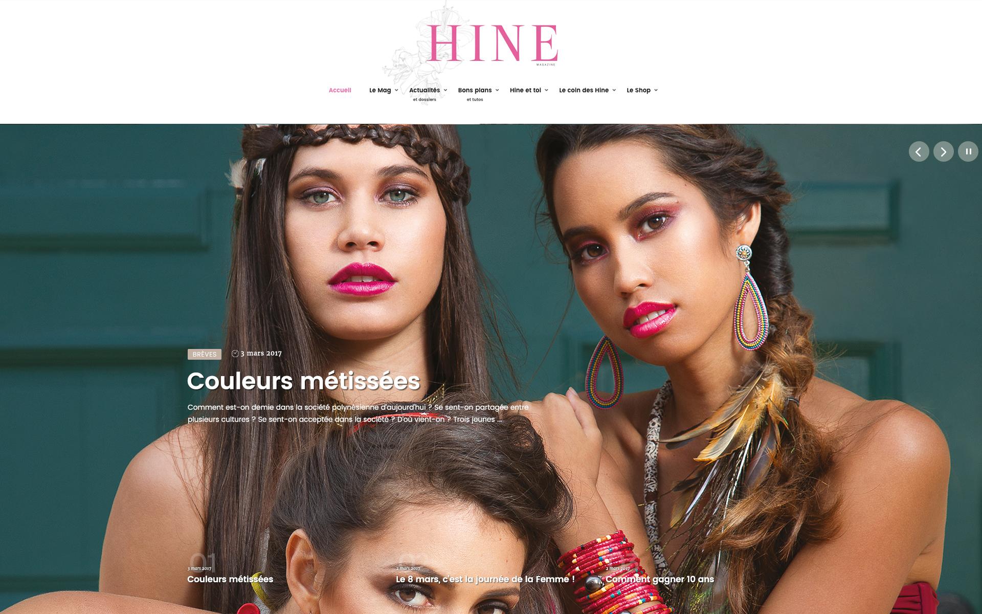 Découvrez le site internet du Hine magazine
