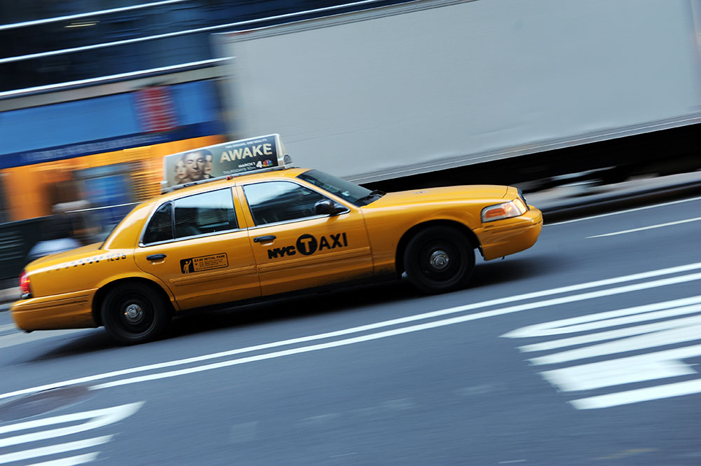 Les taxis jaunes ont nettement moins d'accidents que les plus sombres