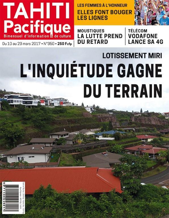 A la Une de Tahiti Pacifique
