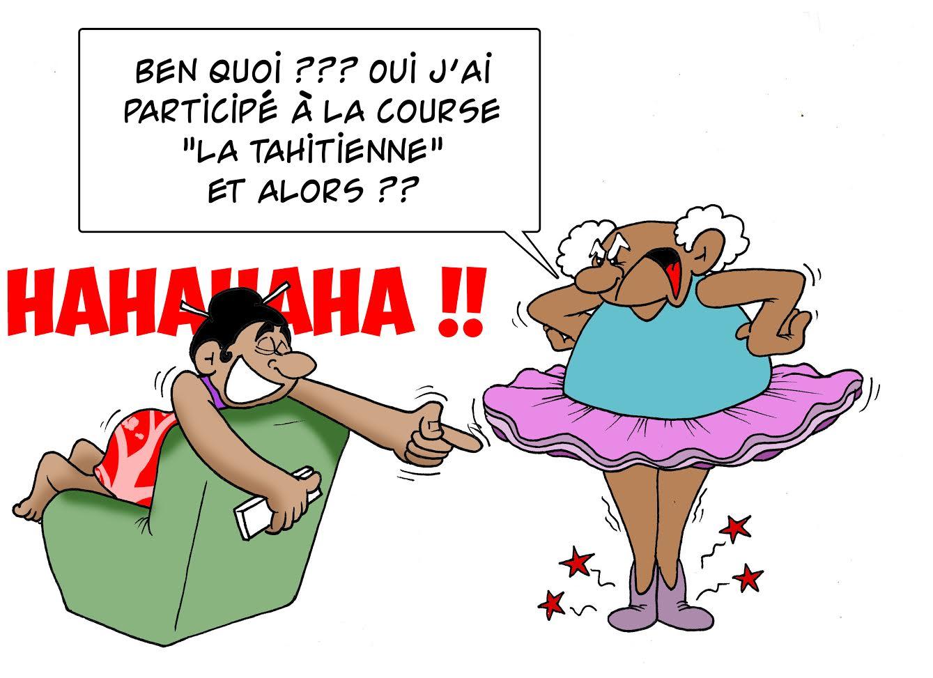 """ La Tahitienne "" vu par Munoz"