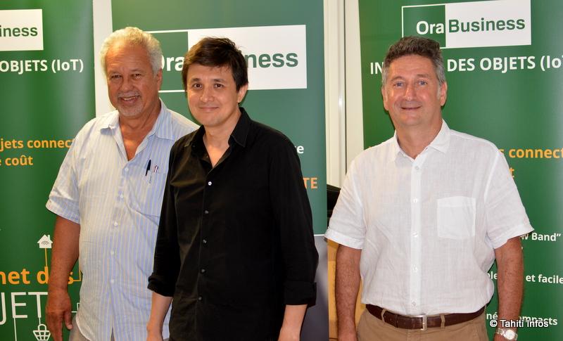 Mario Nouveau (président et actionnaire majoritaire de Viti), Raymond Colombier (directeur commercial) et Bernard Foray (directeur général).