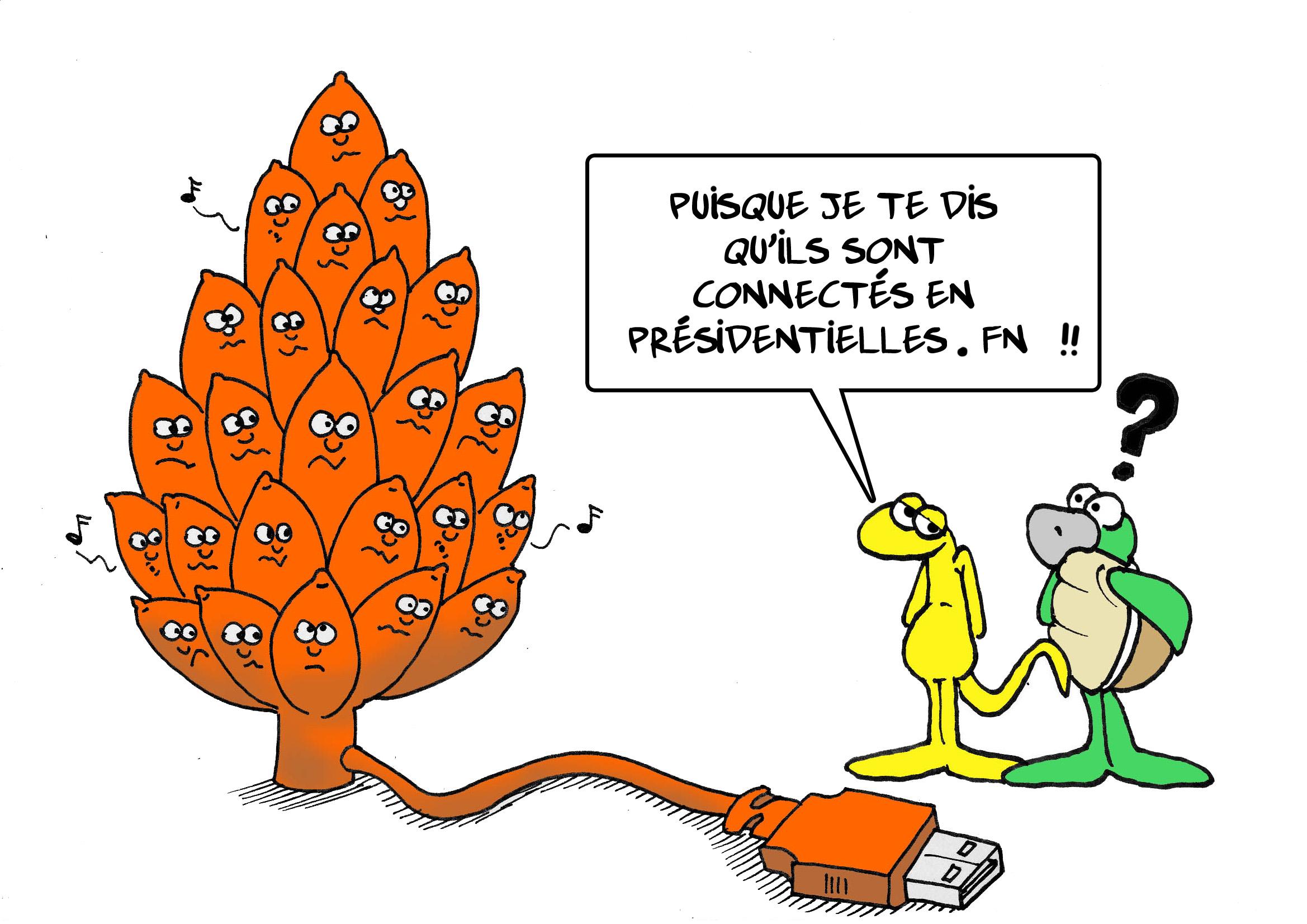 """"""" Les « orange » soutiennent le FN """" par Munoz"""