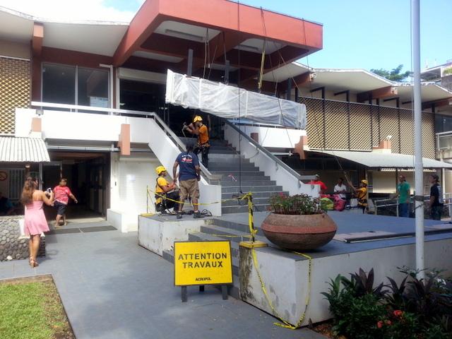 Un nouveau fronton pour le palais de justice de Papeete
