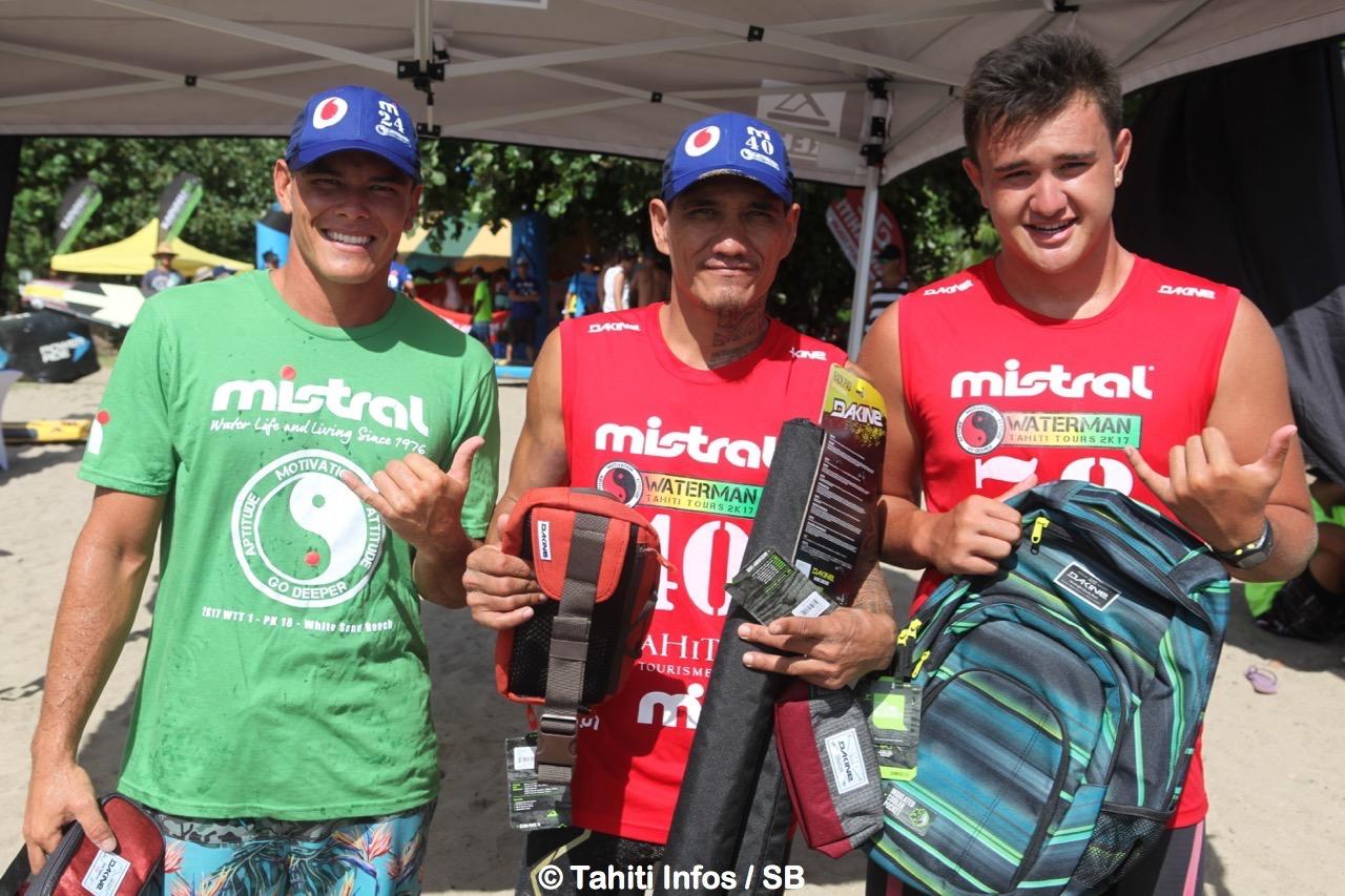 Tamarua, Bruno et Keahi, trois ténors du WTT