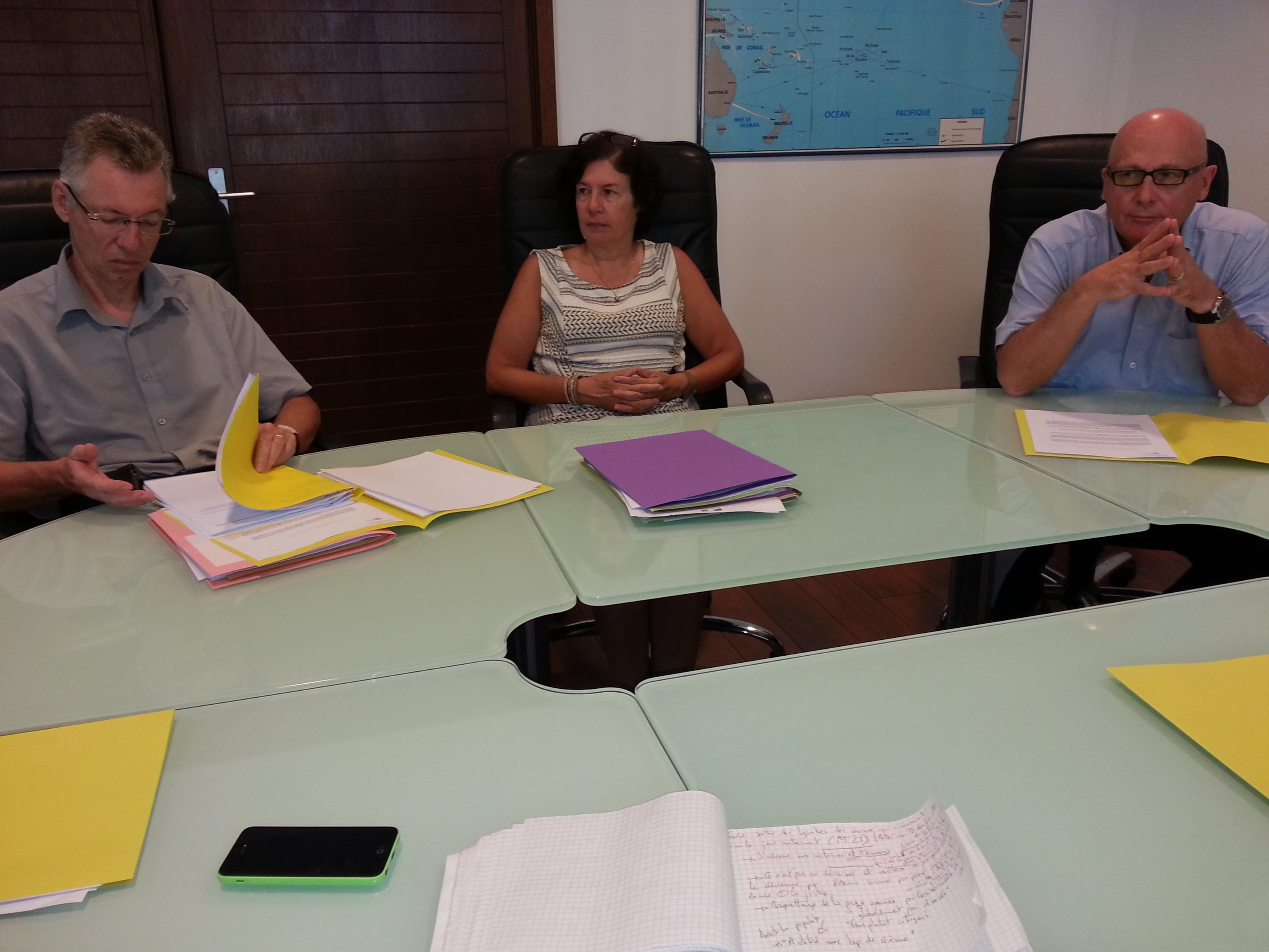 Le procureur de la République Hervé Leroy, l'avocate générale Brigitte Angibaud et José Thorel.