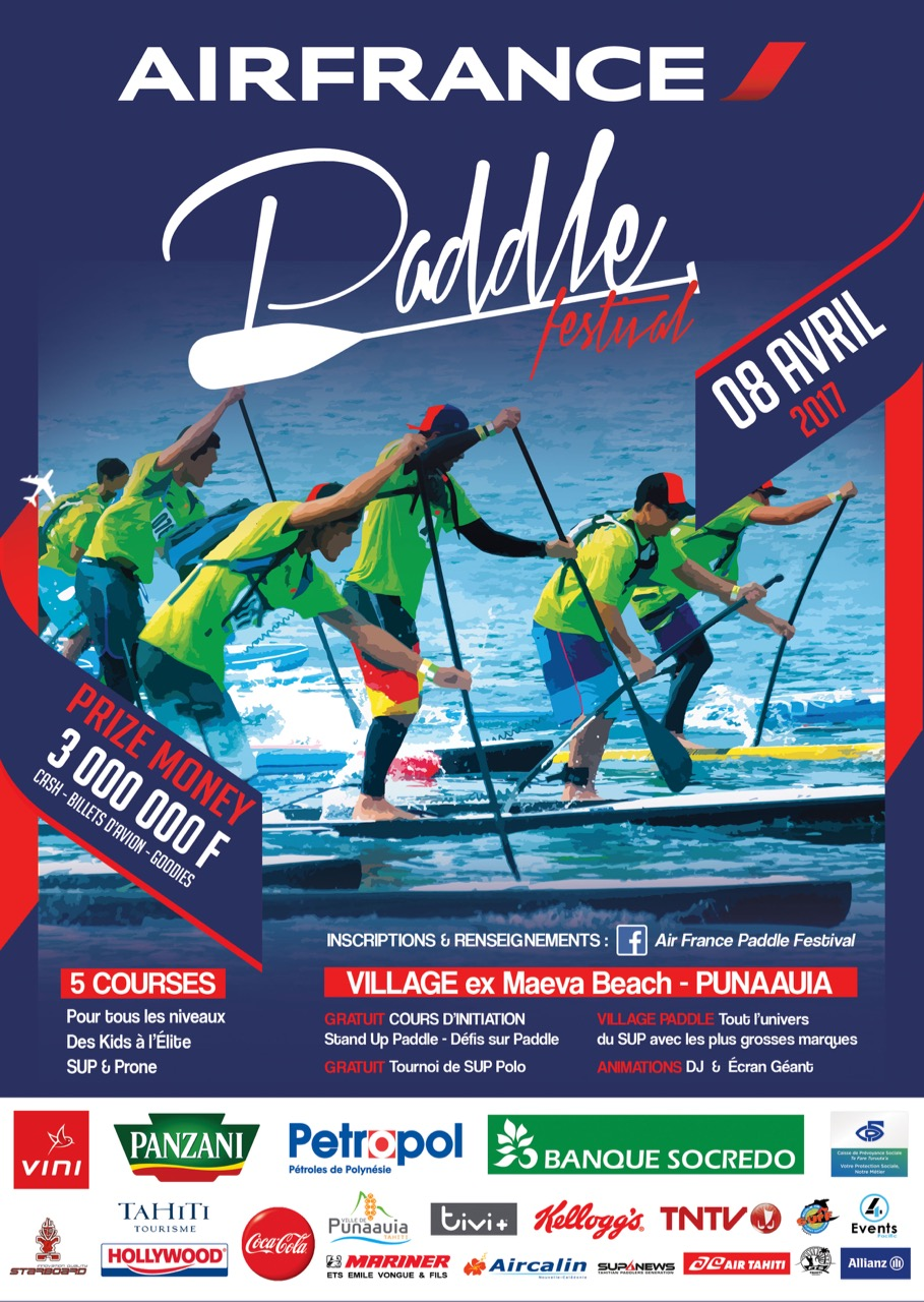 Sup – 4e Air France Paddle Festival : La fête du SUP c'est pour le 8 avril