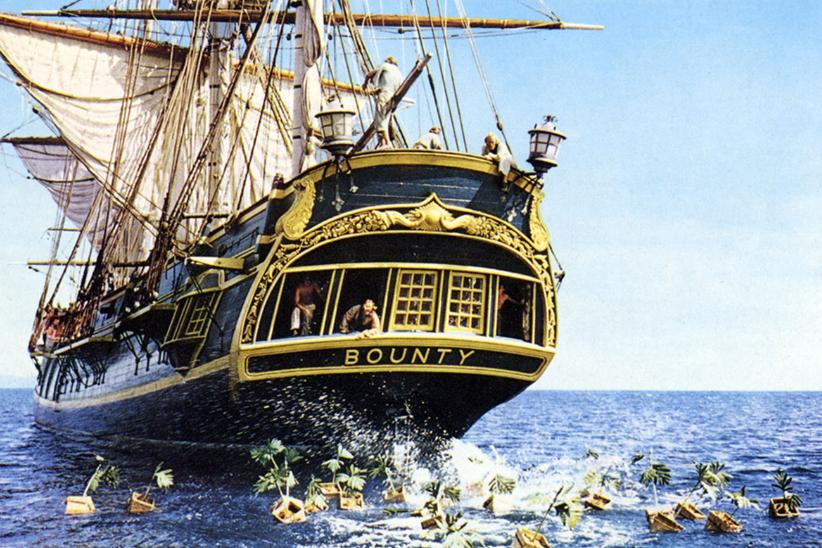 Le navire HMS Bounty (photo extraite du film)