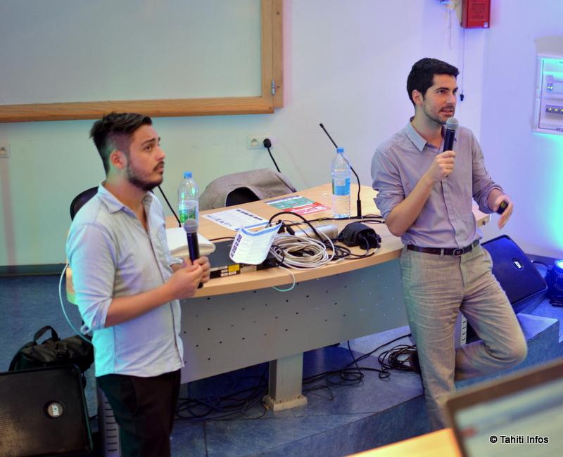 Christian Vanizette de MakeSense et Jean-Romain Micol, de French Tech, ont communiqué une vraie énergie entrepreneuriale au public lors de leur conférence. Ils ont aussi annoncé le lancement de l'incubateur de start-up de la CCISM en partenariat avec leurs deux organisations.