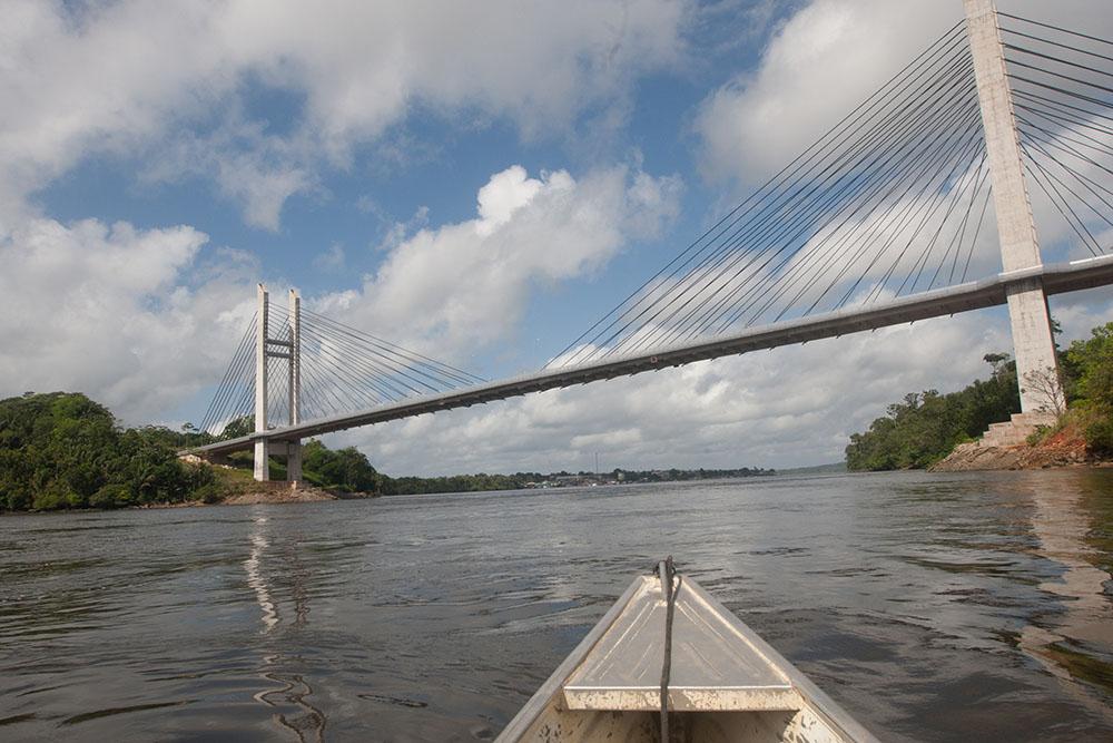 Inauguration du pont qui relie la Guyane et le Brésil