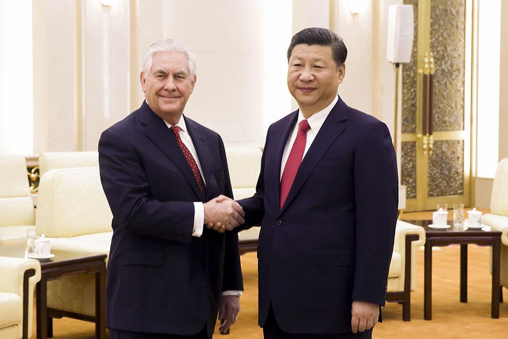 Xi Jinping et Tillerson prêts à travailler à un rapprochement Chine-USA