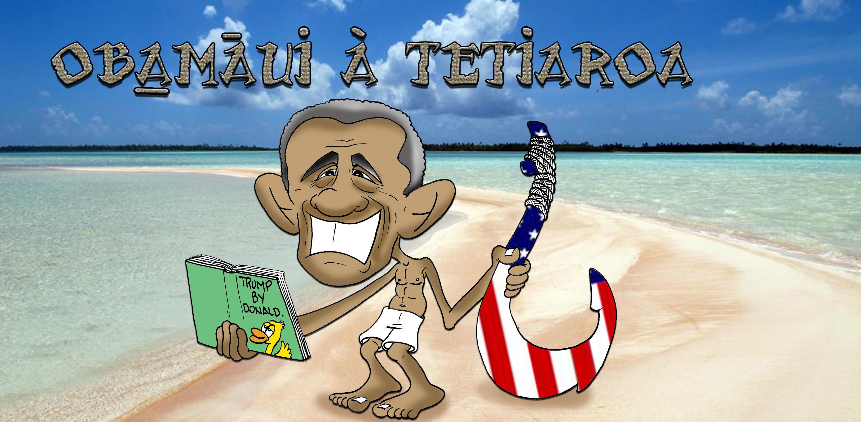 """"""" Obama à Tetiaroa """" par Munoz"""