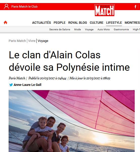La famille Colas dans Paris Match