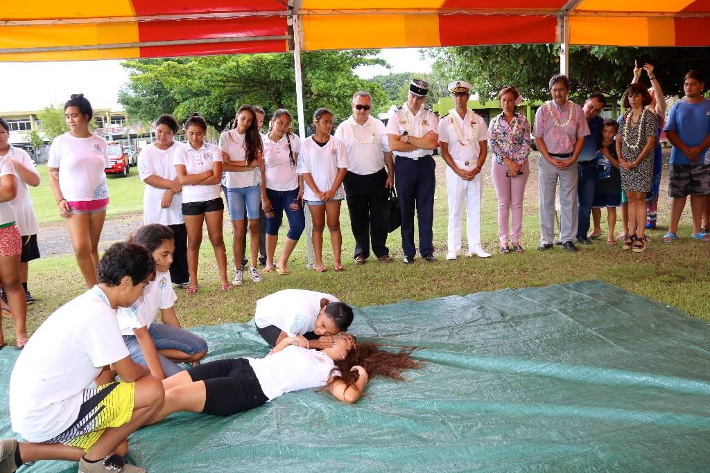 Les collèges de Tipaerui, Arue et Ua Pou pilotes des classes cadets de la sécurité civile