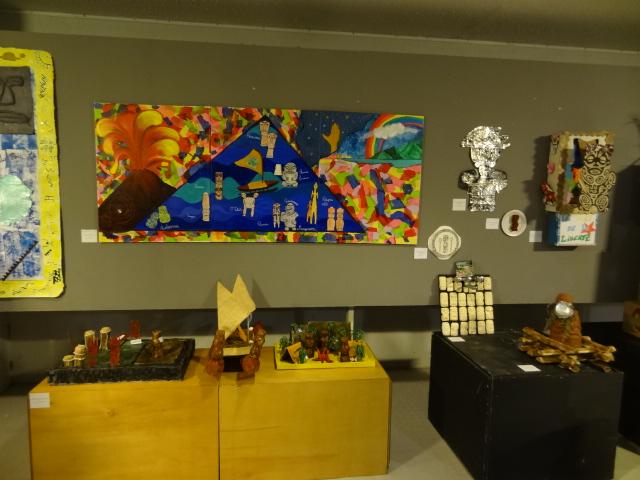 L'espace d'exposition du Musée de Tahiti et des îles dédié aux œuvres des scolaires, réalisées pour le concours Tiki.