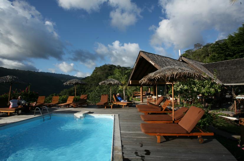 Le point de départ idéal pour explorer la vallée, l'hôtel Hanakee. Et au retour, la piscine est parfaite pour se détendre…