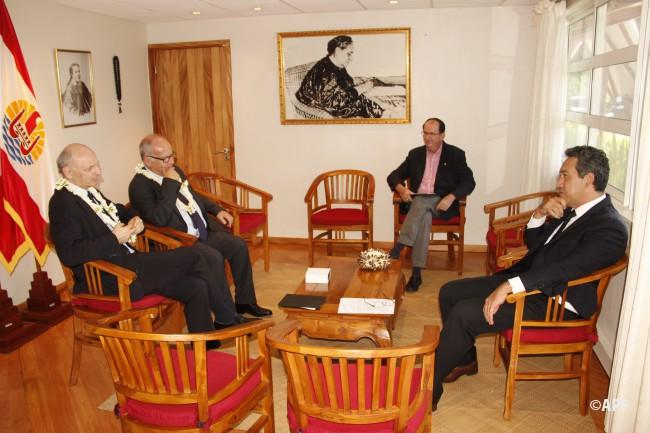 Didier Migaud reçu par le président de l'Assemblée de la Polynésie française