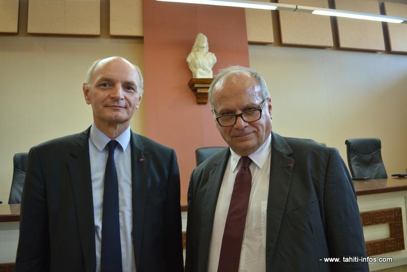 Didier Migaud, premier président de la cour des comptes et Jean Lachkar, président de la chambre territoriale des comptes.
