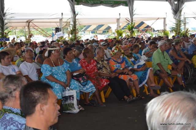 Plus de 3 000 personnes étaient présentes samedi à Vaitupa.