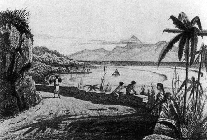 Cette illustration de 1800 a un petit côté idyllique qui en fait tout le charme. On aurait envie d'y être.