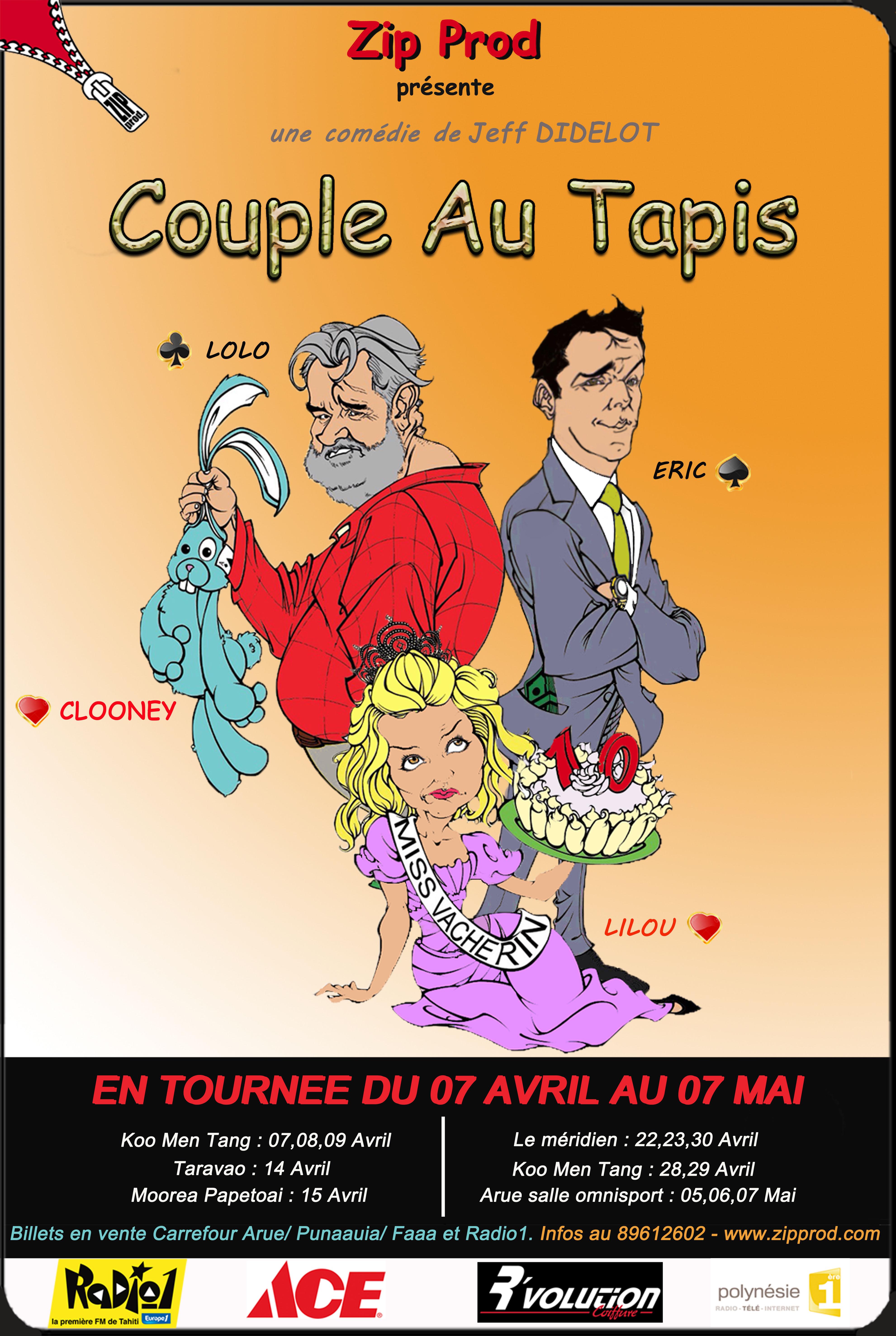 Zip prod présente son nouveau spectacle : Couple au tapis