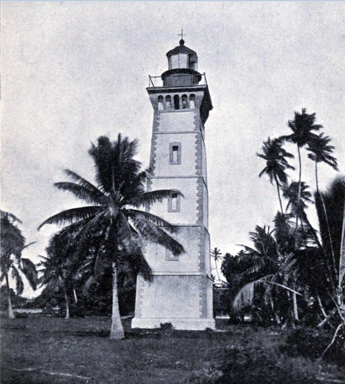 Le phare de la pointe Vénus en 1906. Photo Coulon