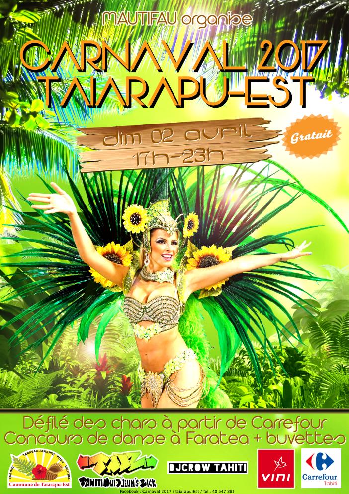 Taiarapu Est : report du carnaval au mercredi 5 avril